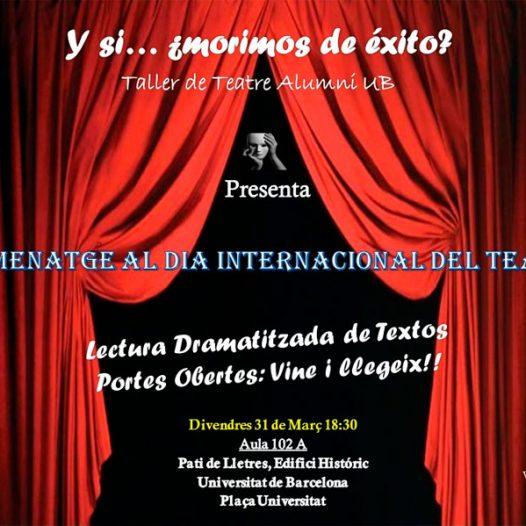 Club de Teatre Alumni · Lectura dramatitzada · Portes obertes