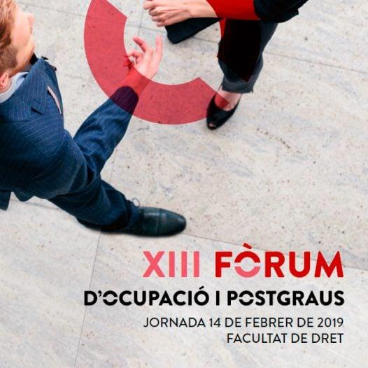 XIII Fòrum d'ocupació i Postgraus de l'àmbit jurídic i legal